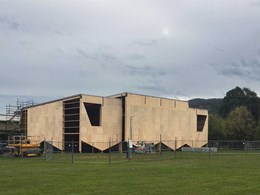 Ecoply strengthens timber frame walls at new Myrtleford stadium