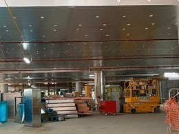 Kooltherm's new compliant soffit board installed in Macquarie Park building