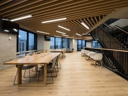 Vogl Plasterboard and DecorSlat Max feature in new QBE Auckland office fitout