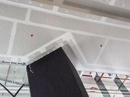 Au.diVoglFuge perforated acoustic ceiling installed at luxury Melbourne apartments