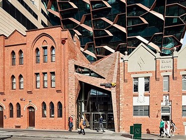 Krause Old Melbourne Town brick facade fronts 271 Spring Street