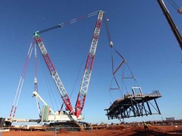 Kennards Hire Lift & Shift helps install 110 tonne transfer station at WA site using its 300 tonne modular spreader beam