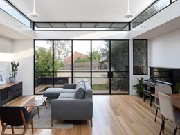 Bifold doors featuring Brio's folding door hardware draw in light at Melbourne heritage home