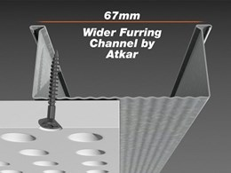 New 67mm wide furring channel by Atkar