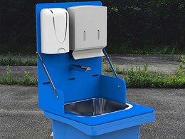 Enware's new portable handwashing station encouraging better hygiene