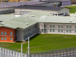 Vandal resistant, anti-ligature Safe-Cell shower rose specified for Auckland correctional facility