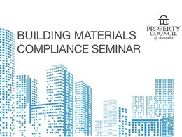 National seminar series to raise awareness of building materials compliance