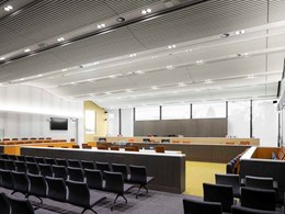 Screenwood ceilings at ACT Law Courts