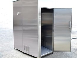 Stainless steel toilet cubicles customised for Adelaide City tram drivers toilet project