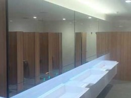 Dolphin ALAVO modular system specified for Adelaide Airport washroom
