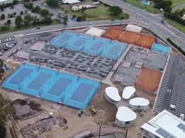 Playing surfaces created at Gold Coast tennis academy with Mapei's acrylic resin system