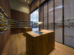 Big River's perforated timber panelling offers signature look to Aesop, Burnside Village