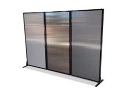 PPA's Afford-A-Wall folding room dividers help keep messy prep area at onsite kitchen out of sight