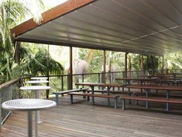 Retractable roofs create all-weather community space at Northern Beaches school