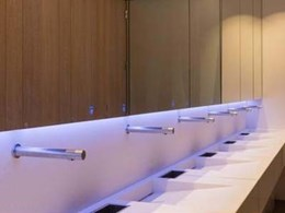 Stylish washrooms designed for upmarket commercial building in London