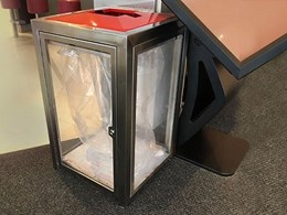 Unbreakable clear polycarbonate bin walls in Sydney allow easy detection
