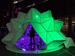 Giant kaleidoscope at Vivid gets surround sound with JBL and Crown systems