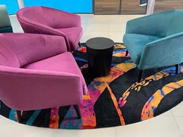 Bespoke hand tufted rug adds colour to Ashmore Shopping Centre