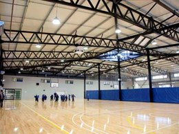 Versatile XFLAM panels specified for walls, ceiling and roof at Melton Christian College gym