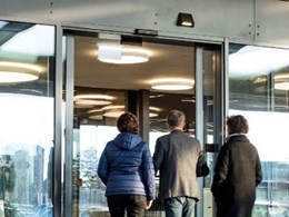 Store entrance doors that combine safety and security