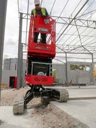Athena 850 bi-levelling tracked scissor lift wins major manufacturing award
