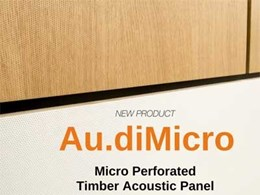 Au.diMicro micro perforated timber acoustic panels