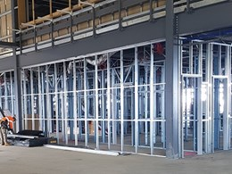 Prefabricated steel framing speeds up work at Avalon Airport International Terminal
