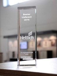Hettich acknowledged as 'Best Supplier' by Assmann Büromöbel