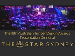 Book your seats for the 2018 Australian Timber Design Awards night