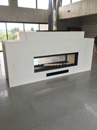 Sculpt's Axis H1600XXL DS is Australia's largest double sided inbuilt wood heater