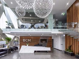 Architect uses Corian's seamless design-ability to create BCM interiors