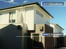 Multiple BGC products selected by builder for Geelong townhouse project