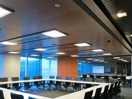 Ultraflex aluminium composite panels and veneer panels deliver impressive finish to BHP WA office ceilings and walls