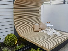 Daybed made with DecoWood battens dazzle The Block 2020 judges