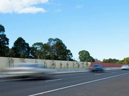 Dual purpose wall built for noise attenuation along Ballina Bypass