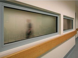 Fully insulated fire rated windows at Bendigo Hospital