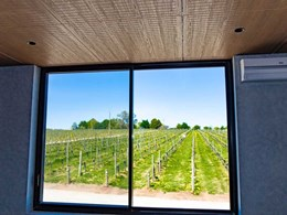 Slotted Key-Nirvana acoustic ceiling tiles reduce noise at new winery offices