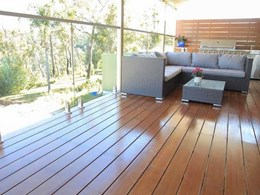 Low carbon high strength fire rated composite decking solution for bushfire prone areas