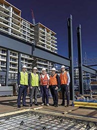BlueScope structural steel helps developers build 5-storey mixed development on car park