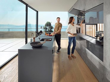 Blum AVENTOS lift systems in kitchen