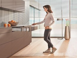 TIP-ON BLUMOTION by Blum creating harmony in opening and closing handle-less furniture