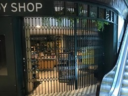 ATDC's folding security shutters installed in challenging application at The Body Shop