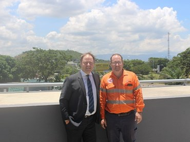 Boon Edam Managing Director Michael Fisher, left, with Troy Ware, Director, Port Moresby Electrical