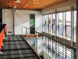 How Altair louvre windows make a unique play of light and shadow at Breezway office