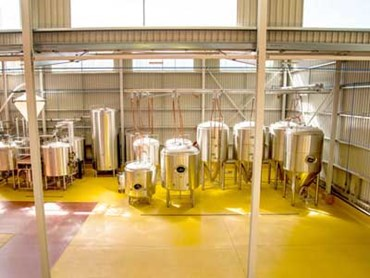 Bright Brewery in Australia with colourful Flowfresh flooring
