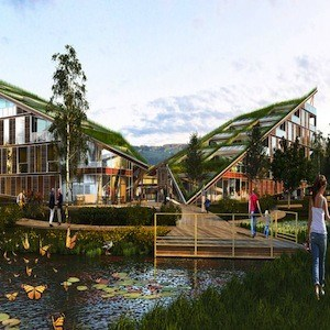 Weatherhead Architecture Designs Wing Like Green Roof To