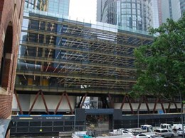 Fire rated steel framed glazed doors installed at Barangaroo C2 building