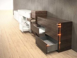 Blum's CABLOXX locking system for drawers preventing unauthorised access