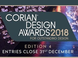 Corian Design Awards 2018 – Entries for Edition 4 close 31 December