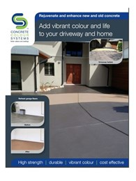 Add new life to your concrete surfaces with CCS Colour Master sealer